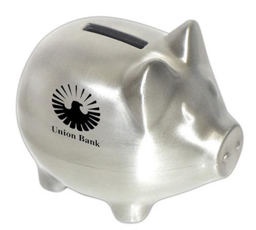 Piggy bank logo for How to open a tin piggy bank